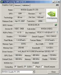 Quadro FX 370 GPUZ